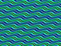 Op Art Homage to BR Multicolor Horizontal Sine Royalty Free Stock Image