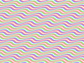 Op Art Homage to BR Multicolor Horizontal Stripes Royalty Free Stock Image