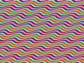 Op Art Homage to BR Multicolor Horizontal Waves Royalty Free Stock Photo