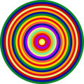 Op Art Homage to CT Multicolor Concentric Circles Royalty Free Stock Photography