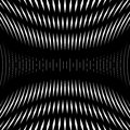 Op art, moire pattern. Relaxing hypnotic background, geometrc Royalty Free Stock Photo