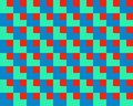 Op Art Square Within Squares Green Red Blue Royalty Free Stock Photo