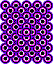 Op Art Thousand Eyes Blue Purple White Black Royalty Free Stock Images