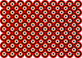 Op Art Thousand Eyes Red Orange White Black Stock Photo