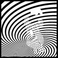 Op art of the woman in black and white Royalty Free Stock Image