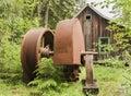 Opal Creek Mining Equipment Water Pump Royalty Free Stock Photo