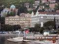 Opatija city center with Slatina beach in Croatia Royalty Free Stock Photo