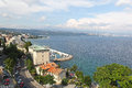 Opatija croatia july adriatic sea at on july aerial view of adriatic sea bay in Royalty Free Stock Photos