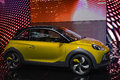 Opel adam rocks at the geneva motor show on display during switzerland march Royalty Free Stock Photo