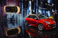 Opel adam s at the geneva motor show on display during switzerland march Stock Photography