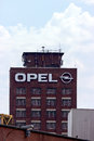 Opel tower ruesselsheim hesse germany july and plant of the headquarter of german automobile company adam ag Stock Photo