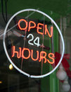 Open 24 hours Royalty Free Stock Image