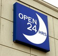 Open 24 Hours Sign Stock Images
