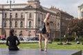 Open air ballet performance