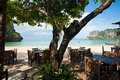 Open Air Beach Restaurant Railay Royalty Free Stock Photography