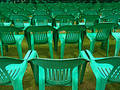 open air chairs Royalty Free Stock Photo