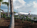 Open air commercial airport Kona Big Island Hawaii Royalty Free Stock Photo