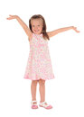 Open arms little happy girl Royalty Free Stock Photo