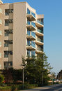 Open Balconies, Modern Apartment Building. Royalty Free Stock Photo