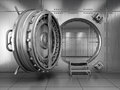 Open bank vault door d render Stock Photography