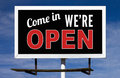 Open Billboard Sign Stock Images