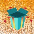 Open birthday giftbox