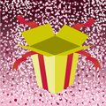 Open birthday giftbox Royalty Free Stock Photo
