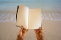 Open Blank Page Book at the Beach