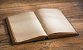 Open blank pages of old book Royalty Free Stock Photo
