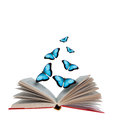 Open book and  butterflies Royalty Free Stock Photo