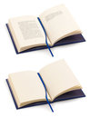 Open book with clipping path Stock Image