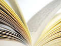 Open book, close up Royalty Free Stock Photo