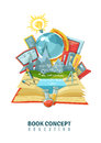 Open Book Education Concept Abstract Composition Royalty Free Stock Photo