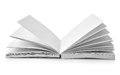 Open book fanned pages isolated white background Royalty Free Stock Photo