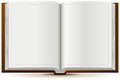 An open book in hardcover illustration vector format Royalty Free Stock Photography
