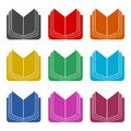 Open book icon, color icons set Royalty Free Stock Photo