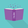 Open book icon. Concept of fairytale, literary fiction genre Royalty Free Stock Photo