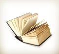 Open book icon illustration on white background Royalty Free Stock Images