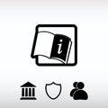 Open book icon, vector illustration. Flat design style