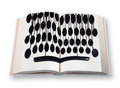 Open book with old keyboard blank on white shadow clipping path and concept of technology Stock Images