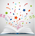 Open book with ribbon Royalty Free Stock Photo