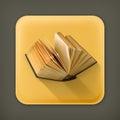 Open book vector icon Royalty Free Stock Photo