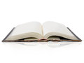 Open book on white background Royalty Free Stock Photos