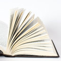 Open book on white background close up Stock Photography