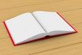 Open book on white background. 3D illustration
