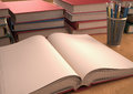 Open book with white pages your text or image on the white pages Royalty Free Stock Image
