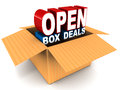 Open box deal Stock Photo