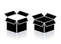 Open box icon Royalty Free Stock Photo