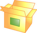 Open box icon or symbol Stock Image