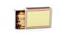 Open box of matches Royalty Free Stock Photo